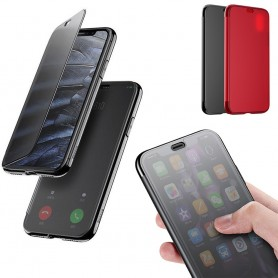 Baseus Touchable veske Apple iPhone X mobil shell flipcover-visning