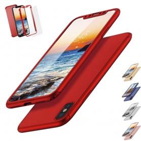 FLOVEME 360 skall med glass Apple iPhone X mobil deksel