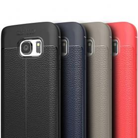 Lærmønstret TPU-skall Samsung Galaxy S7 mobilveske caseonline