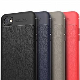 Lærmønstret TPU-skall LG Q6 mobilveske caseonline