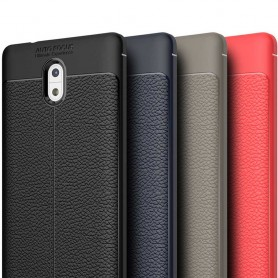 Lærmønstret TPU-skall Nokia 3 mobilveske caseonline
