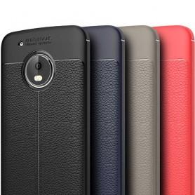 Lærmønstret TPU-skall Motorola Moto G5 Plus mobil etui