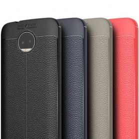Lærmønstret TPU-deksel Motorola Moto G5s Plus Mobildeksel
