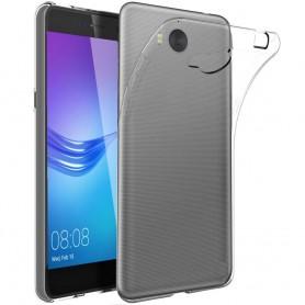 Huawei Y6 2017 MYA-L41 Silikonetui Gjennomsiktig mobilskall