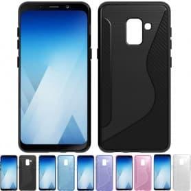 S Line silikonskall Samsung Galaxy A8 Plus 2018 SM-A730F tpu mobil shell caseonline