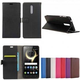 Mobil lommebok 2-kort Lenovo K8 mobil omslag