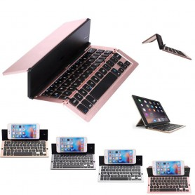 Bluetooth foldetastatur F18 i aluminium perfekt for mobil eller nettbrett