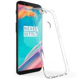 OnePlus 5T silikonetui gjennomsiktig mobilskall