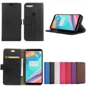 Mobil lommebok 2-kort, seddel OnePlus 5T vaskeveske lyche skinn