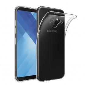 Samsung Galaxy A8 Plus 2018 silikonetui gjennomsiktig mobilskall