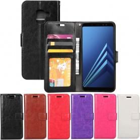 Mobil lommebok 3-kort Samsung Galaxy A8 Plus 2018 SM-A730F Veske Mobiltelefon veske