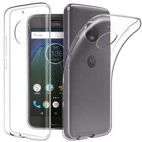 Motorola Moto G5S Silikonetui Gjennomsiktig mobilskall