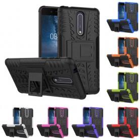Støtsikker skall med stativ Nokia 8 mobil deksel
