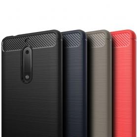 Børstet silikon TPU-skall Nokia 5 mobilskall