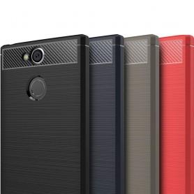 Børstet silikon TPU-skall Sony Xperia XA2 H4133 mobilskall