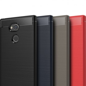 Børstet silikon TPU-skall Sony Xperia XA2 Ultra H4233 mobil deksel