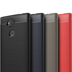 Børstet silikon TPU-skall Sony Xperia L2 mobilskall H4311