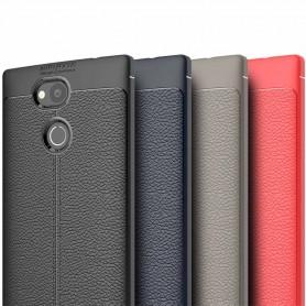 Lærmønstret TPU-deksel Sony Xperia L2 mobil deksel