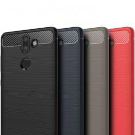 Børstet silikon TPU-skall Nokia 8 Sirocco mobil beskyttelses beskyttelse caseonline