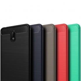 Børstet silikon TPU-skall Nokia 2 mobil skall-silikon-beskyttelse