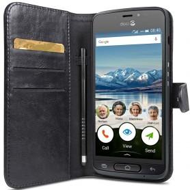 Doro Liberto 8040 lommebokveske Mobil deksel lommebokveske 2i1 magnetisk svart