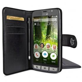 Doro Liberto 825 lommebokveske - svart mobiltelefon veske