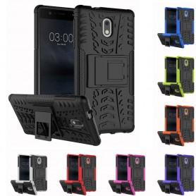 Slagbestandig skall med stativ Nokia 3 mobildeksel