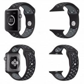 Apple Watch 38mm Sport armbånd Silikon Black-Grey Series 1 2 og Nike + CaseOnline.se