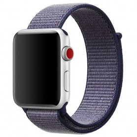 Apple Watch 38mm Nylon armbånd Midnight Blue Series 1 2 3