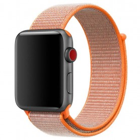 Apple Watch 42mm Nylon armbånd med borrelås Spicy Orange armbåndsur