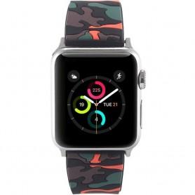 Apple Watch 38mm Camo silikonarmbånd - Svart / oransje tilbehør stroppeklokke