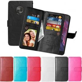 Dobbeltvipp Flexi Motorola Moto X4 XT1900 mobiltelefon sak mobil planbok