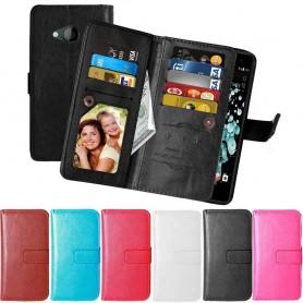 Mobil lommebok Dobbeltvipp Flexi 9-kort HTC U Play mobildeksel