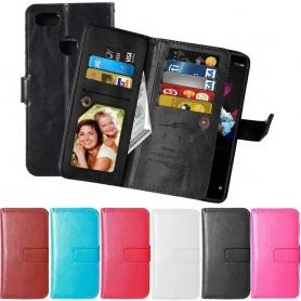 Mobil lommebok Dobbelt vipp Flexi Huawei Honor 7X mobildeksel CaseOnline.se