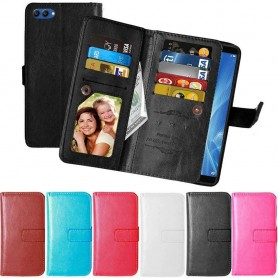 Mobil lommebok Dobbelt flip Flexi Huawei Honor View 10 BKL-L29 mobildeksel