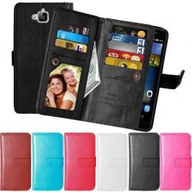 Mobil lommebok Dobbeltvipp Flexi 9-kort Huawei Y6 Pro TIT-L01 mobildeksel caseonline.se
