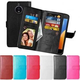 Mobil lommebok Dobbeltvipp Flexi 9-kort Motorola Moto E4 Plus mobiltelefon veske