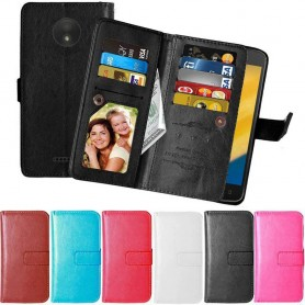 Mobildeksel Dobbel flip Flexi mobil lommebok Motorola Moto C Plus deksel