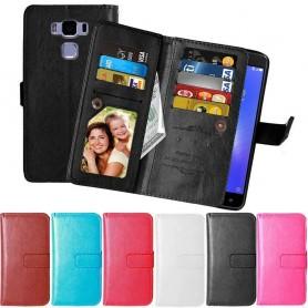 Mobil lommebok Dobbelt flip Flexi 9-kort Asus Zenfone 3 Max ZC552KL
