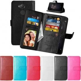 Mobil lommebok Dobbelt flip Flexi 9-kort Sony Xperia XA2 mobiltelefon veske