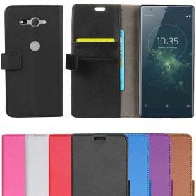 Mobil lommebok 2-kort Sony Xperia XZ2 Compact etui Flip mobil deksel
