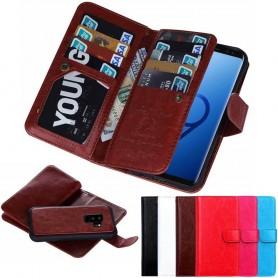 Mobil lommebok dobbelt flip magnet 2i1 Samsung Galaxy S9 Plus mobil deksel