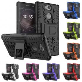 Mobil veske Støtsikker skall med stativ Sony Xperia XA2 H4133 caseonline etui beskyttelse