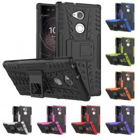 Mobilt deksel Støtsikkert silikondeksel med stativ Sony Xperia XA2 Ultra