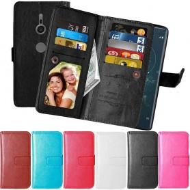 Mobil lommebok Dobbelt flip Flexi 9-kort Sony Xperia XZ2 mobil deksel
