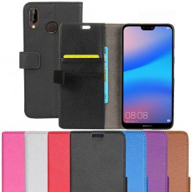 Mobil lommebok 2-kort Huawei P20 Lite beskyttelsesetui Mobiltelefon veske