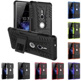 Støtsikker Sony Xperia XZ2 mobil deksel 2i1 silikonbeskyttelse
