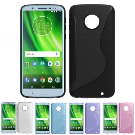 S Line silikonetui til Motorola Moto G6 Plus mobil skall