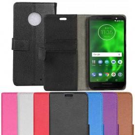 Mobil lommebok 2-kort Motorola Moto G6 Plus mobiltelefon veske