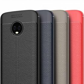 Mobildeksel skinnmønstret TPU-deksel Motorola Moto G6